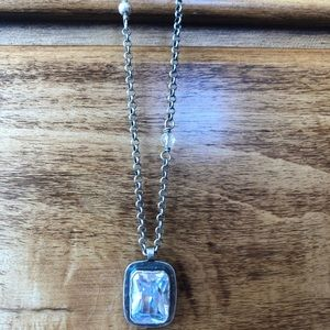 Silpada Sterling Silver Cubic Zirconia Necklace